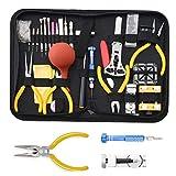 Kit Reparation Outil Montre Horloger Professionnel - STAGO 141 pcs Montre Outils Kit de Outils Horloger