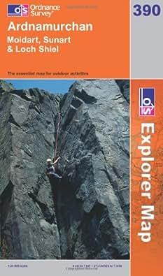 Ardnamurchan, Moidart, Sunart and Loch Shiel (OS Explorer Map Series)