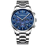 LABIUO Herrenuhren, Luxus Analog Quarz Digitale Sportuhr Klassische Business Six Pin Multi Funktion Chronograph Armbanduhr(C,Einheitsgröße)