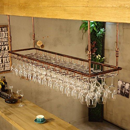 Weinregale Hanging Red Wein Stemware Racks, Deckenmontage hängend Weinflaschenhalter Metall Becher...
