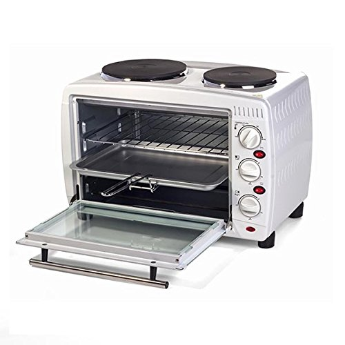 Igenix IG7126 Mini Oven and Grill with Double Hotplates – 26 L