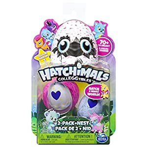 Hatchimals 6034164 Collezionabili Confezione da 2 Ovetti e Nido, Personaggi Assortiti