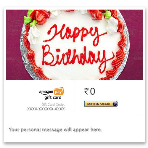 Birthday Gift Cards Buy Online At Amazonin