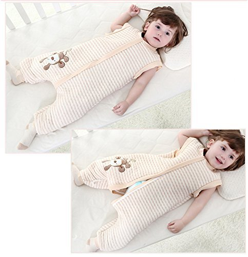 G' Abigale Fairy 100% algodón orgánico precioso mono bebé saco de dormir (M, rosa)