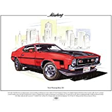 Ford Mustang Boss 351Classic Car Stampa, formato A3 - 1960 Chevy Truck
