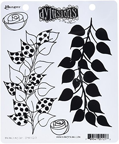 ranger-branching-out-cling-stamp-set-rubber-red