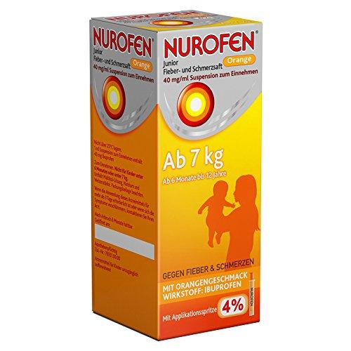 Nurofen Junior Fieber- und Schmerzsaft Orange 4{2fb82d43286c98a3c2e56ad04fe66c7647b16808de5faa8f6be77e5184910428}, 100 ml Lösung