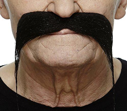 Mustaches Selbstklebende Fälscher Schnurrbart Neuheit Biker Falsch Gesichtsbehaarung Kostümzubehör für Erwachsene Schwarz Farbe
