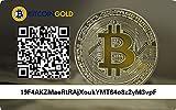 Bitcoin Gold Paper Wallet Card Geschenkkarte Plastikkarte Cold Storage BTG