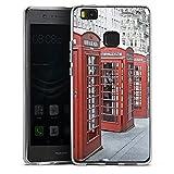 DeinDesign Huawei P9 Lite (2016) Silikon Hülle Case Schutzhülle Rote Telefonzelle England City