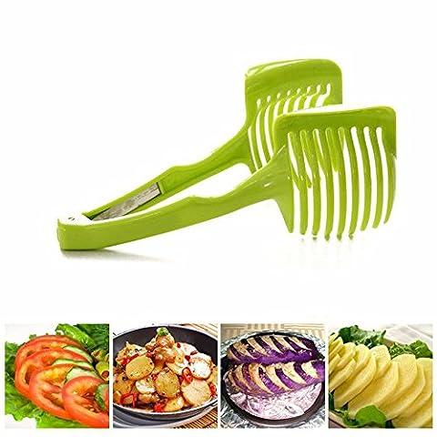 Petite Plastique Tomate trancheuse Légumes Fruits Outil de coupe avec poignée de cuisine Pince de cuisine Accessoires pour citron de pommes de terre d'oignon