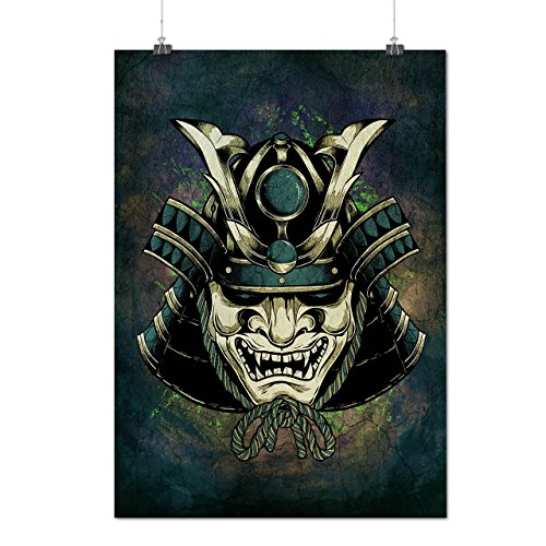 asiatisch Maske Kopf Mode Mattes/Glänzende Plakat A3 (42cm x 30cm) | (Kostüm Samurai Weibliche)