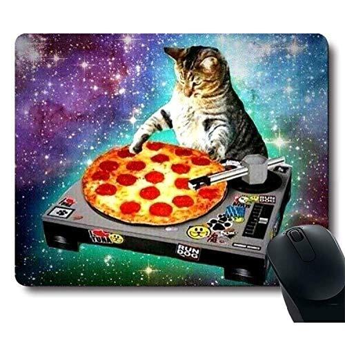 Tappetino per mouse personalizzato,Doge in Taco Chicken Rolls vola nello spazio della Via Lattea, seguendo il mouse pad da sogno...