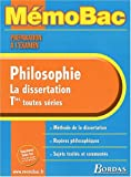 memo prepa exam philo la dissertation ancienne edition