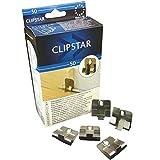 Clipstar Befestigungsclip für TRECOR Kork Sockelleisten in 60 mm Höhe - Inhalt: 50 Stück - Reichweite ca. 25 lfm - Sie kaufen 1 Paket mit 50 Clip - (Leistenklammern)