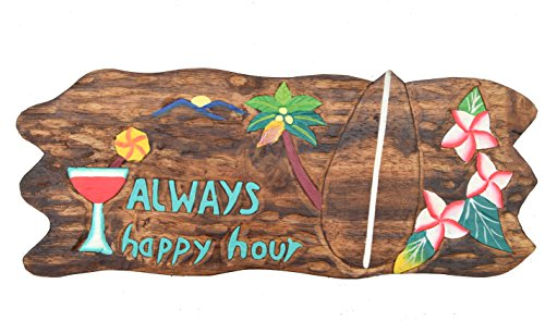 Always-Happy-Hour-placa-de-madera-en-50-cm-Decoracin-para-su-Lounge-Rango