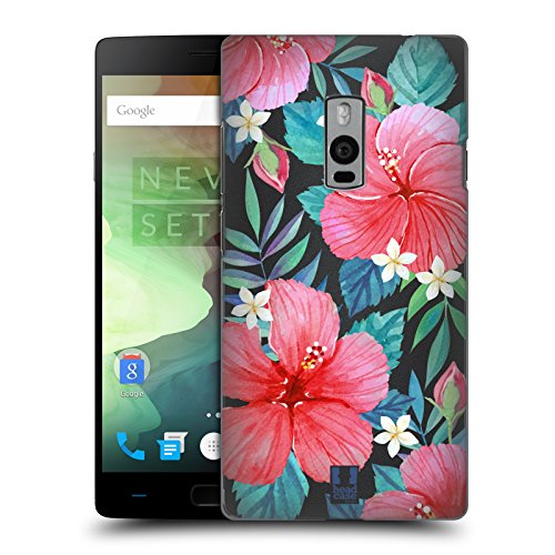 Head Case Designs Tropisches Hibiskus Aquarell Und Blumen 2 Ruckseite Hülle für OnePlus 2 / Two