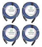 Pronomic Stage DMX3-10 câble DMX 10 m, lot de 4