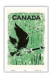 Pacifica Island Art Kanada - Gänse - Vintage Retro Welt Reise Plakat c.1960 - Kunstdruck - 31cm x 46cm