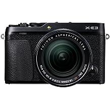 Fujifilm X-E3 - Cámara Evil de 24.3 MP y kit cuerpo con objetivo Fujinon XF 18-55 mm, color negro