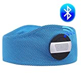 WENYI Wireless Headphones, Bluetooth Headphones, Wireless Stereo Motion Bluetooth Headset On-Ear with [Elastic Breathable Fabric] Headband and Volume Control Great for Sport/Running/Climbing/hiking Navy Blue