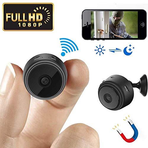 Mini Spy Camera Wireless versteckte Kamera WiFi HD 1080P kleine Nanny Cam Home Security Bewegungserkennung Nachtsicht Remote View mit Handy-App Android iPhone
