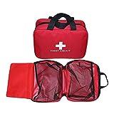 Aoutacc Nylon Kit pronto soccorso in nylon, compatto e leggero Sacco per primo soccorso per emergenza a casa, ufficio, auto, all'aperto, barca, campeggio, escursionismo (solo borsa)