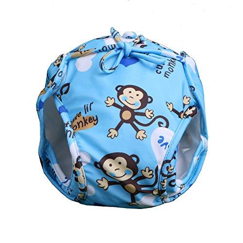 Eizur Couche de bain bébé Réglable Anti-fuite Maillot de bain Réutilisable Lavable Imperméable Respirant garçons ou filles Piscine Natation Couches-Culottes