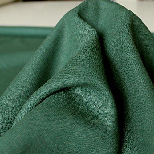 eterware zum Nähen, blickdichter Naturstoff für Bekleidung, Gewänder, Vorhänge und Deko (Moos-Grün) (Trachten Färben)