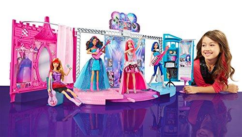 Image of Barbie Rock-n-Royals Transforming Stage Playset