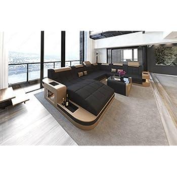 Wohnlandschaft design  Design Wohnlandschaft Turino XXL mit LED Beleuchtung: Amazon.de ...