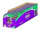 Whiskas Katzen-/Nassfutter Adult 1+ mit Kaninchen, 32 Schalen (32 x 100g)