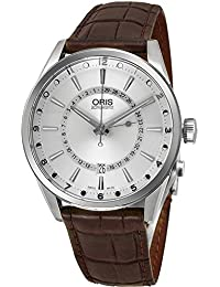 ORIS MEN'S ARTIX POINTER MOON 42MM LEATHER BAND AUTOMATIC WATCH 76176914051LS