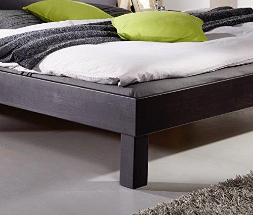 SAM® Massiv-Holzbett Columbia in Buche wenge, Bett mit geteiltem Kopfteil, natürliche Maserung, massive widerstandsfähige Oberfläche in warmem Braunton, 160 x 200 cm - 3