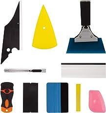 Mookis Auto Folierung Werkzeuge Set Vinyl Wrap Tool Kit Autofolien Tönungsfolie Lackschutzfolie Set 10 Stück Auto Squeegee Set Kit