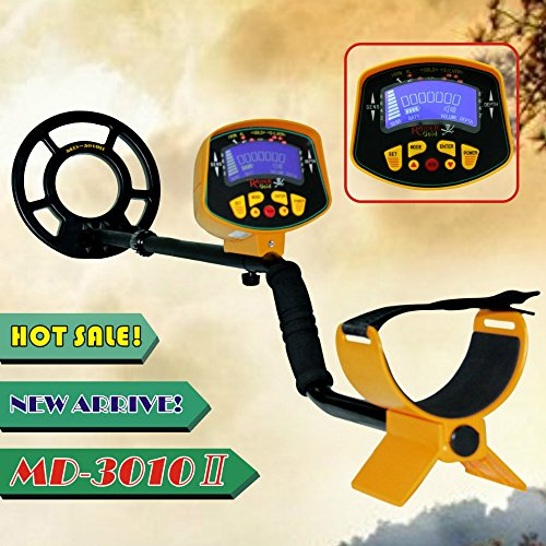 New MD-3010II Metal Detector Gold Digger Deep Sensitive Light Hunter LCD Display