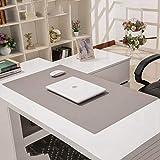 Premium Nicht Glatt Leder Mauspad,Anti-fray-Tuch Spiele Tischunterlage Dick Große Wasserdicht Mouse Pad Arbeitsstudie Schreibtischunterlage Kann Geschnitten Werden(3.5mm)-grau 120x70cm(47x28inch)