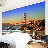 Apalis Vliestapete Baker Beach Fototapete Breit | Vlies Tapete Wandtapete Wandbild Foto 3D Fototapete für Schlafzimmer Wohnzimmer Küche | mehrfarbig, 94541