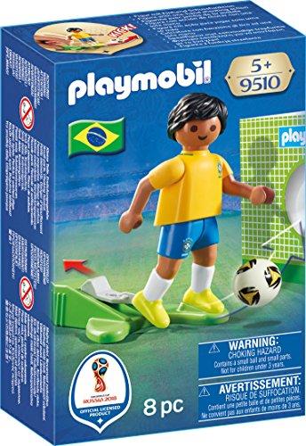 Playmobil Joueur de Foot Brésilien, 9510, Multicolore