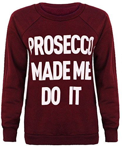 Trendy.clothing - Sweat-shirt - Femme Bordeaux
