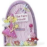 Pequeña puerta rosa y lila de hada con purpurina para decorar la habitación de las niñas de Lucy Locket