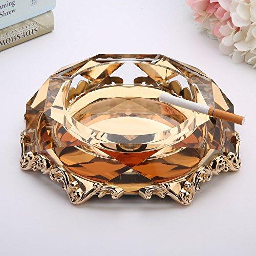 XP-ashtray Kreative Legierung Kristallglas Aschenbecher Mode Personalisierte Geschenke Viel Benutzerdefinierte Aschenbecher Wohnzimmer europäischen Stil Acht Gold Ecke Luxus Gold Aschenbecher