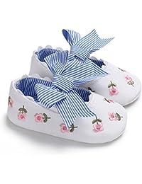 LanLan Zapatos de niños, Calzados/Zapatillas/Sandalias de niños Zapatos de niña de algodón Suave Suela Antideslizante Zapatos Bowknot Bordado Princesa Zapatos