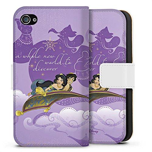 Apple iPhone X Silikon Hülle Case Schutzhülle Disney Aladin Geschenke Merchandise Sideflip Tasche weiß
