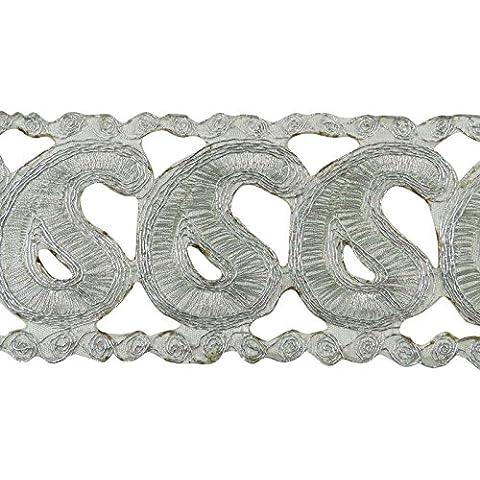 Bordado Cobre Indio Sari Border Cut Trabajo 6,35 cm de ancho Craft por el astillero