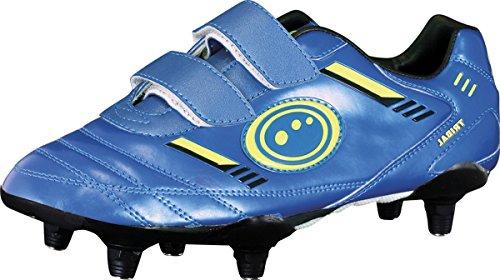 Optimum Tribal Junior Joueurs 6 Crampons Fermeture Velcro Chaussures De Foot Bleu/Vert Bleu/Vert