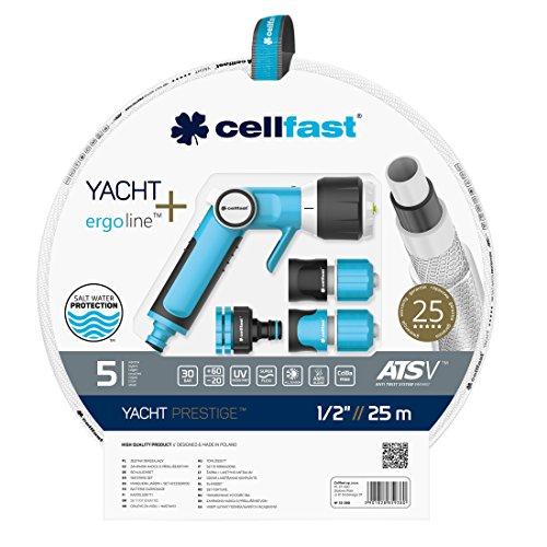 Cellfast 13–390 biseau Bague Lot de Yacht Prestige 1/2 20 m, White, 39 x 39 x 10 cm