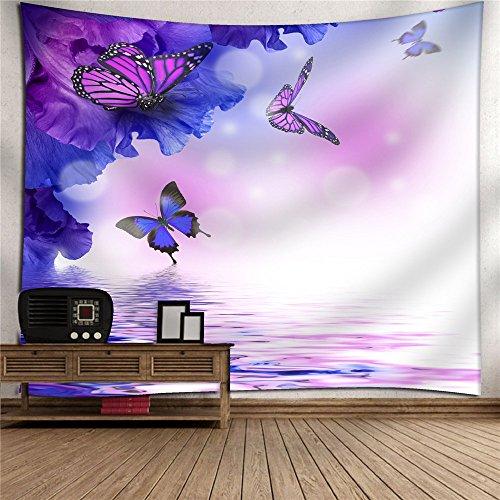 Tapestry, hippie tapestry, wall hanging decorativo, copriletto matrimoniale,psichedelico,farfalla che gioca, 150x130cm