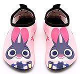 Santimon Aquaschuhe Barfuß Schuhe Schwimmschuhe Badeschuhe Wasserschuhe Surfschuhe Sportschuhe für Kinder Pink 22/23 EU