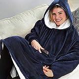 Unbekannt PER Lazy Hoddie Decke weich warm Fleece Super groß Loungewear Sweatshirt zum Sehen TV auf Sofa Bein warm im Winter zu halten